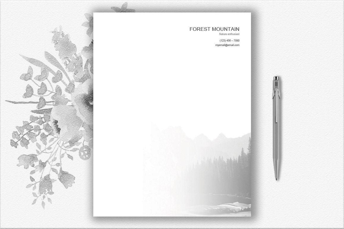 Mountains Letterhead Design Template example image 1