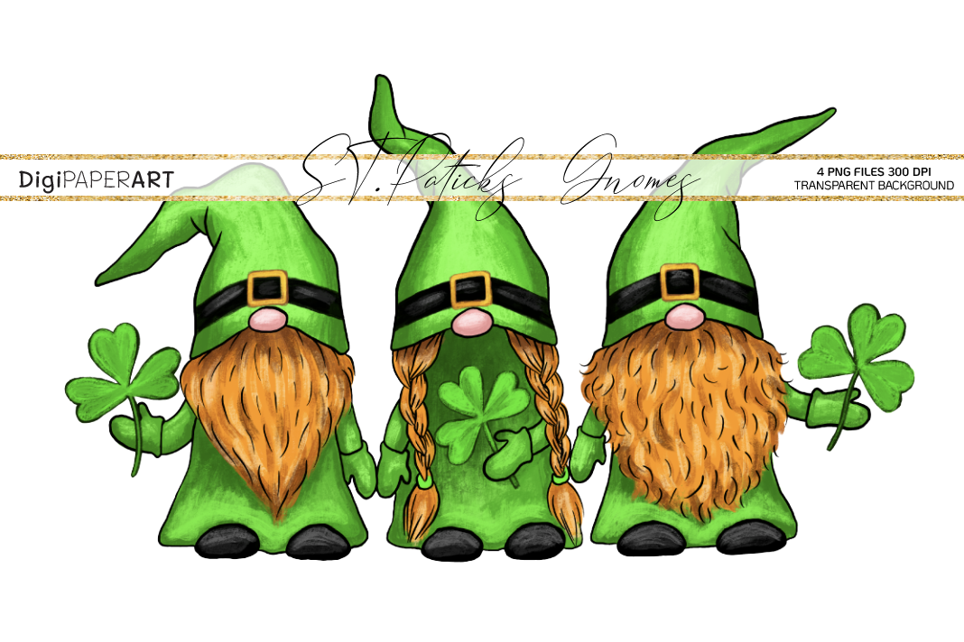 St. Patricks Day Gnome gPNG, Gnome Sublimation Design example image 1