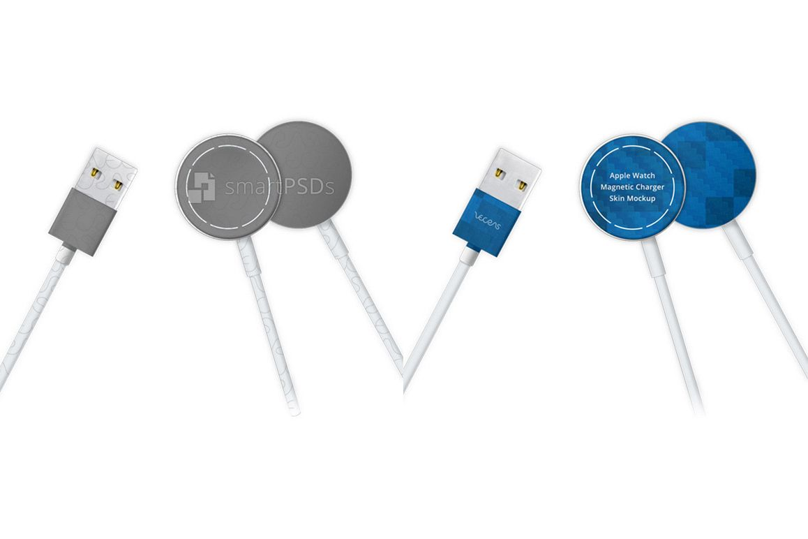Apple Watch Magnetic Charger Vinyl Skin Design Mockup example image 1