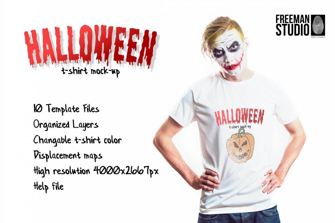 Halloween T-Shirt Mock-Up example image 1