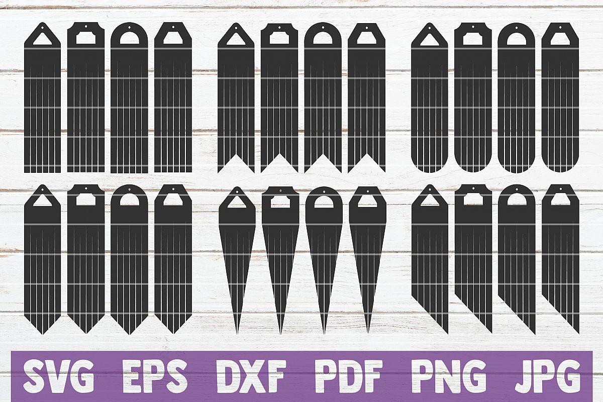 Long Fringe Earrings SVG Cut Files example image 1