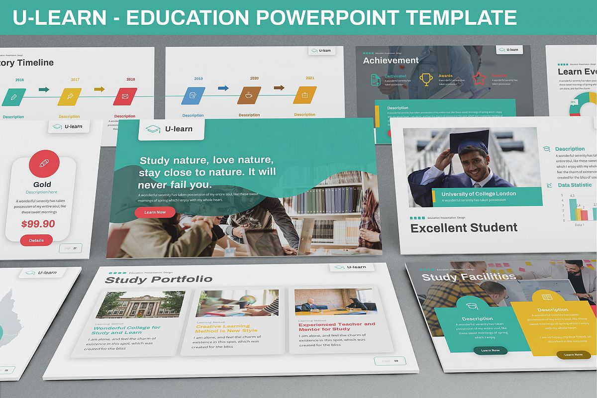 U-Learn - Education Powerpoint Template example image 1