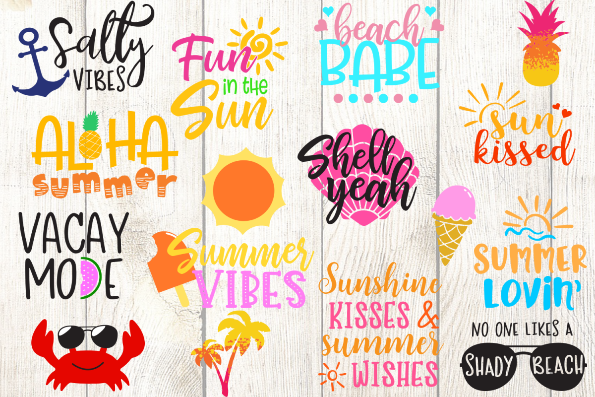 summer svg, shady beach svg, aloha svg, vacay mode svg, beach shirt, summer shirt, svg for cricut, silhouette, anchor svg, pineapple svg, eps, png example image 1