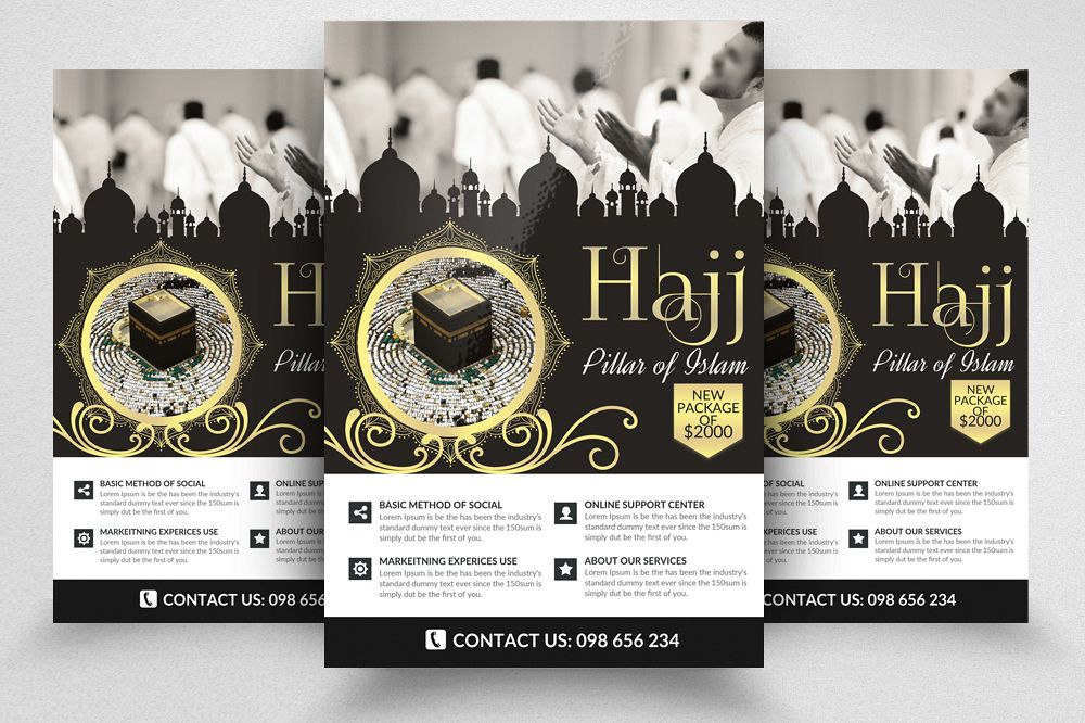 Hajj and Umrah Flyer Template example image 1