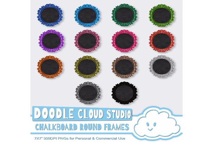 Round Framed Chalkboards TRASPARENT Background, Frame Chalkboard ...