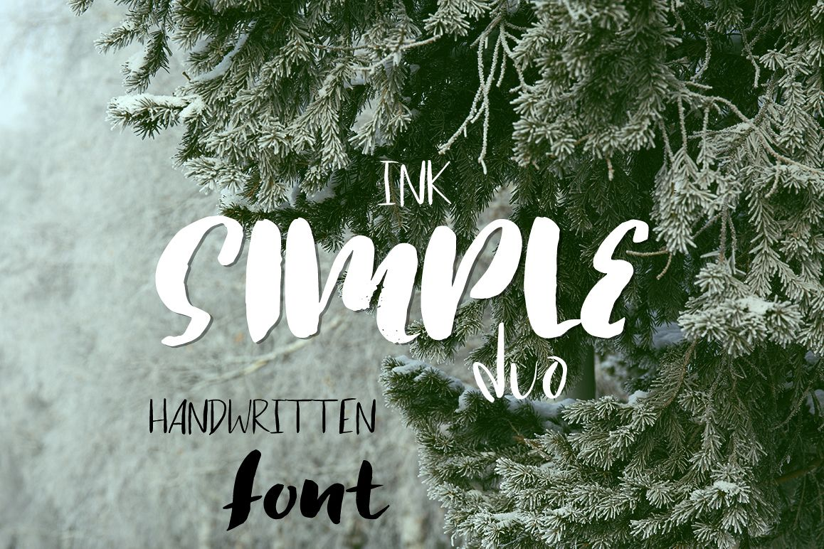 Simple ink font duo example image 1