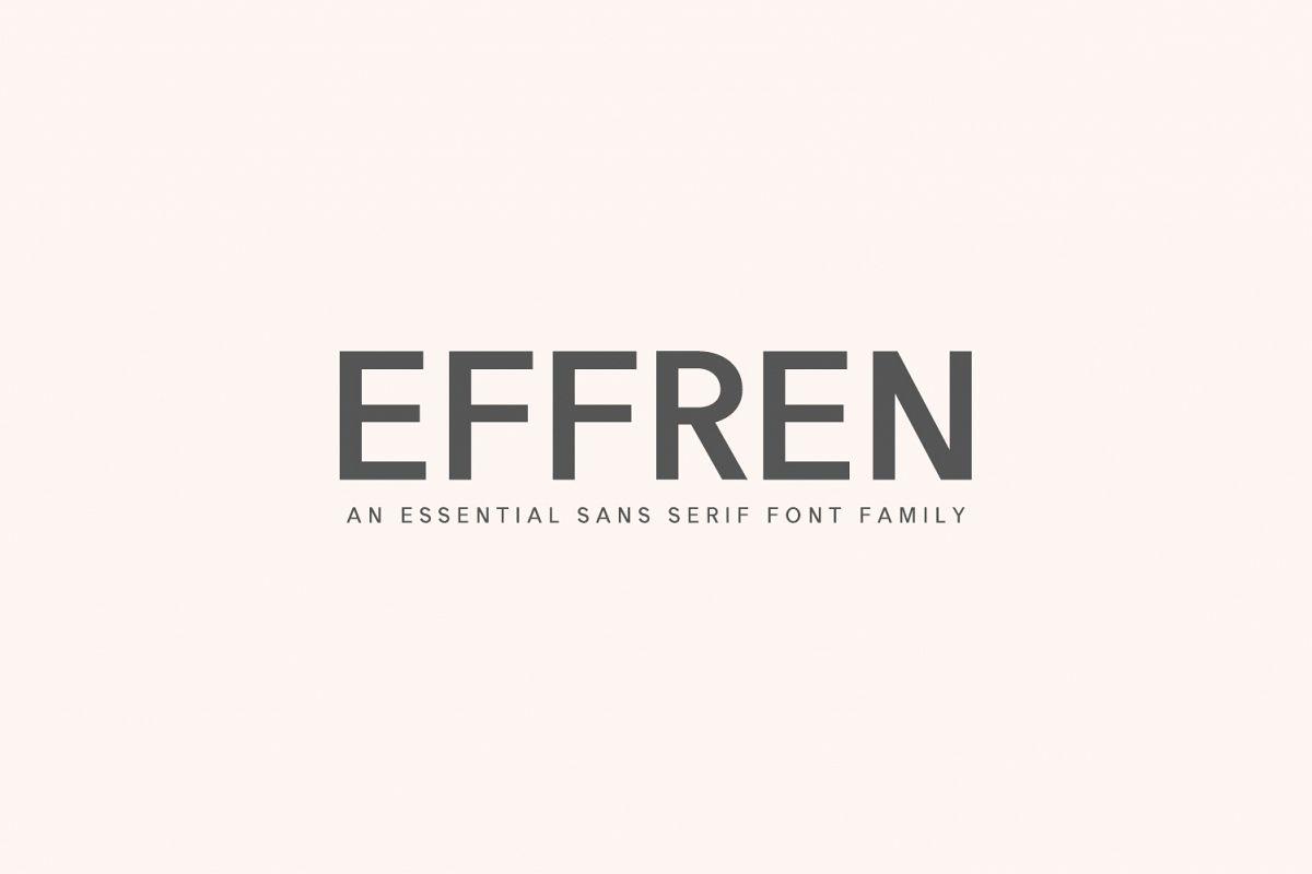 Effren An Essential Sans Serif Font example image 1