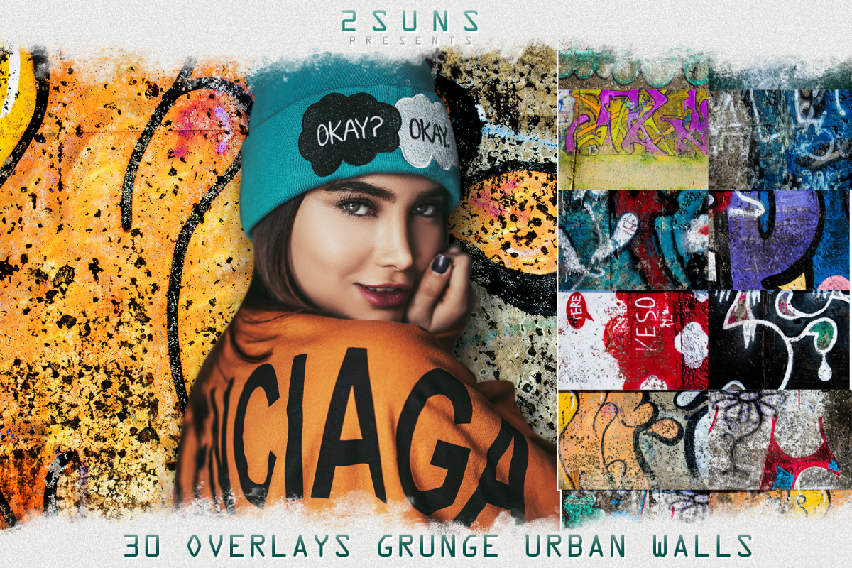 30 Urban grunge walls overlays graffity textures photo vol3 example image 1