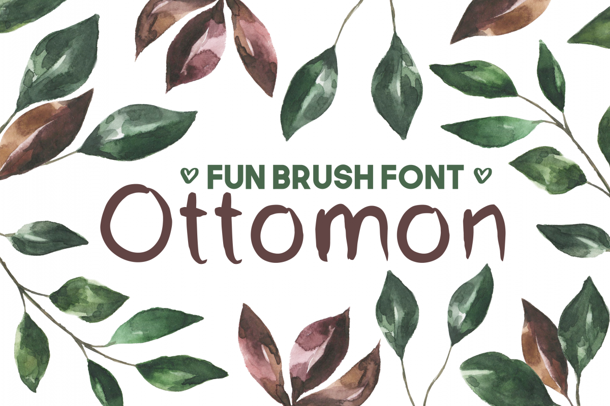 Ottomon Handwritten Brush Font example image 1