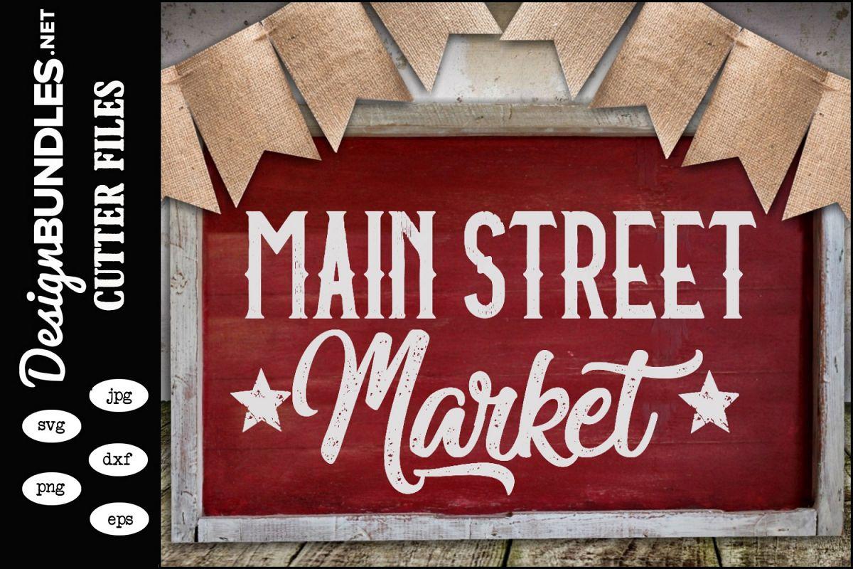 Main Street Market SVG example image 1