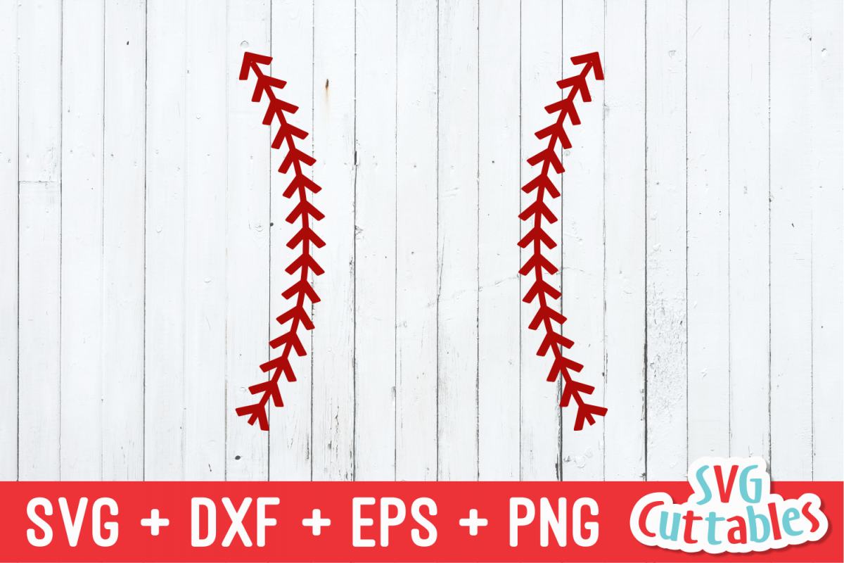 Baseball Stitches | SVG Cut File example image 1