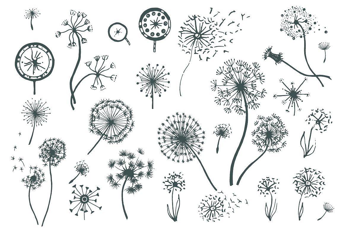Set of dandelions example image 1