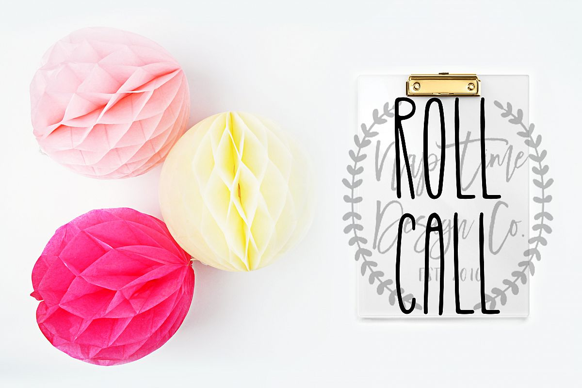 Roll Call SVG example image 1