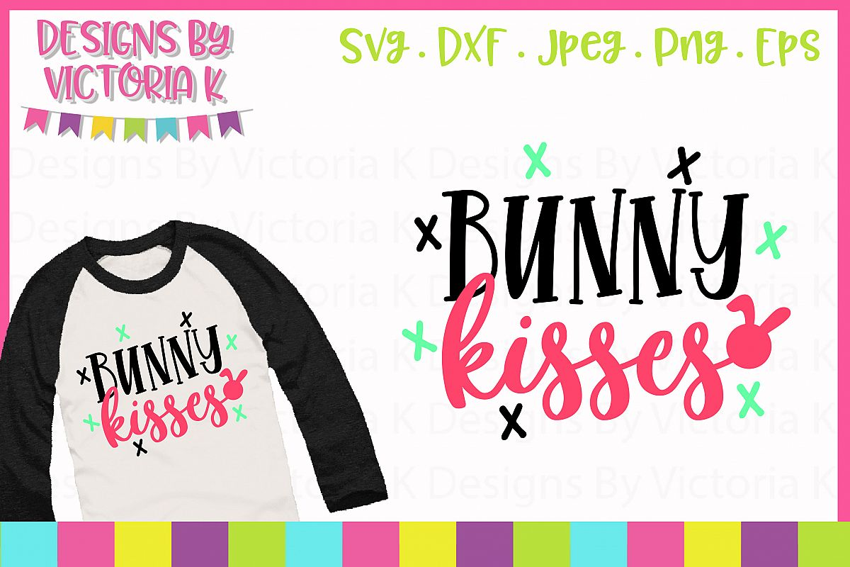 Bunny Kisses SVG Cut File example image 1