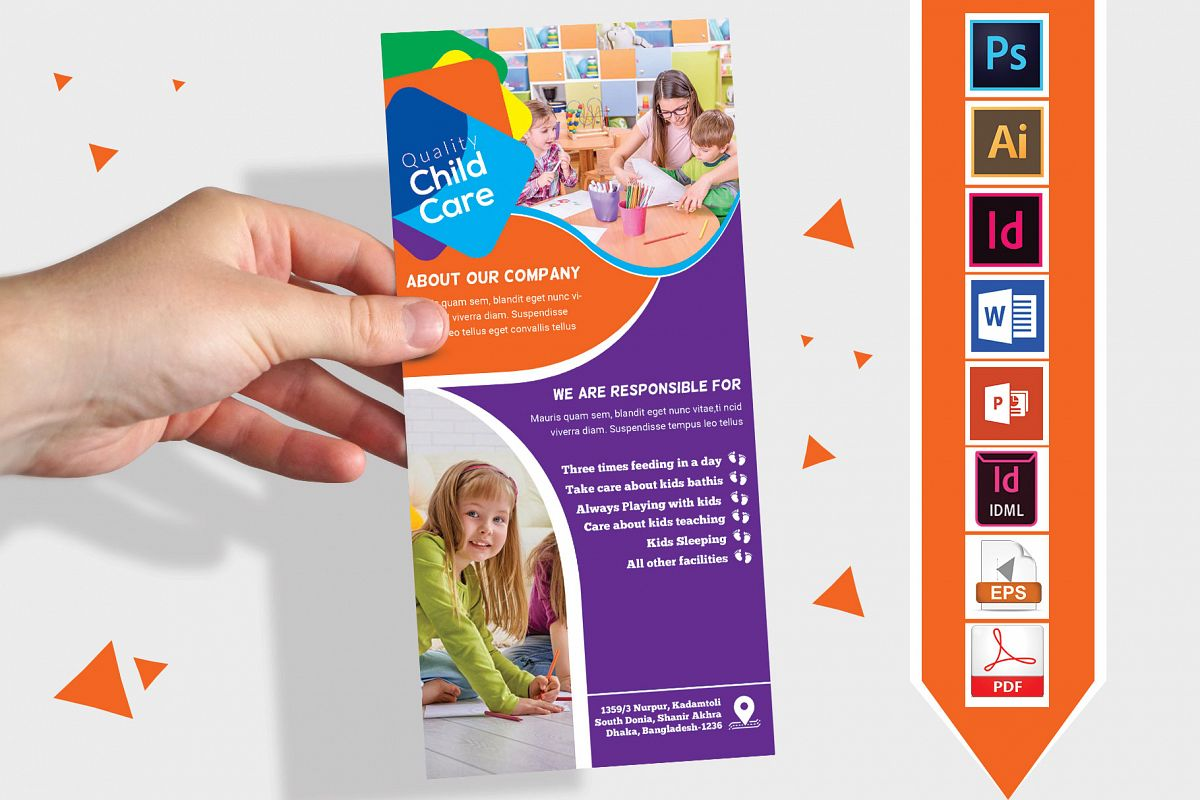 Rack Card   Baby Care DL Flyer Vol-01 example image 1
