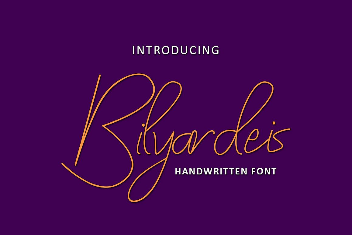 Bilyardeis - Handwritten Font example image 1