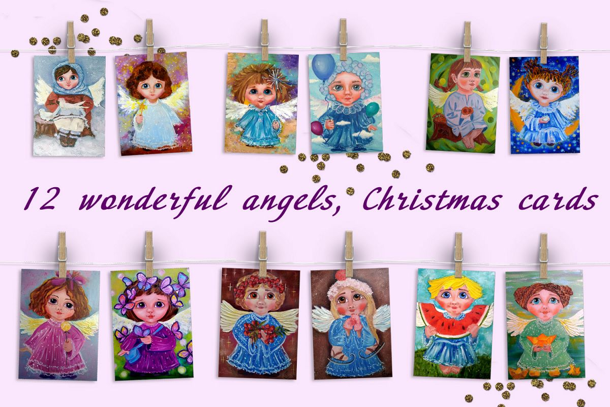 christmas angels cards example image 1