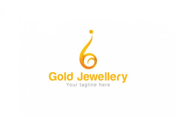 Gold Jewellery - Abstract Iconic Human Figure Stock Logo example image 1
