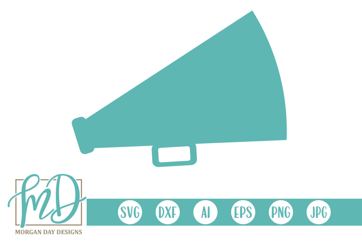 Cheer - Megaphone SVG, DXF, AI, EPS, PNG, JPEG example image 1