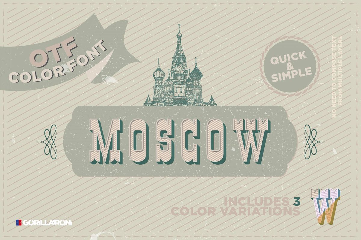 Moscow - SVG color font example image 1