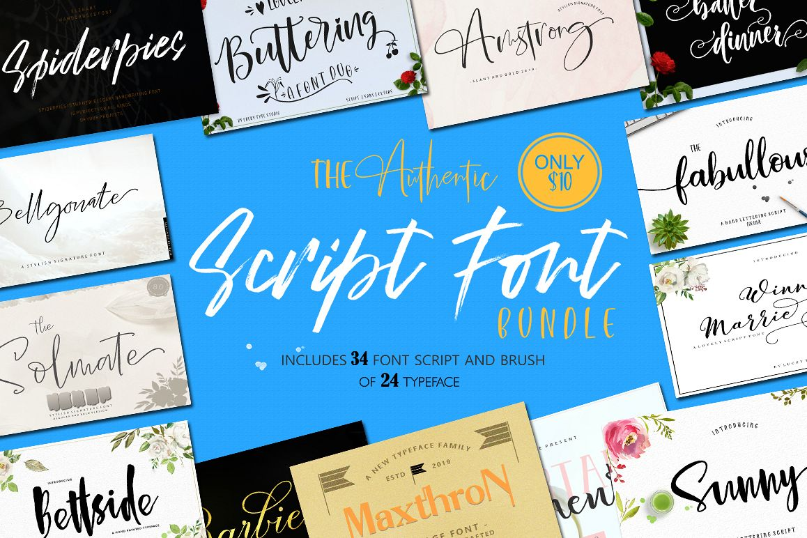 The Authentic Script Font Bundle example image 1