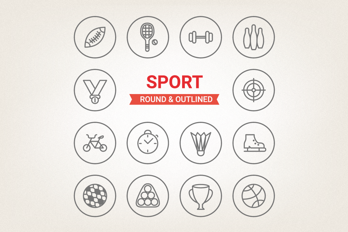 Circle Sport Icons example image 1