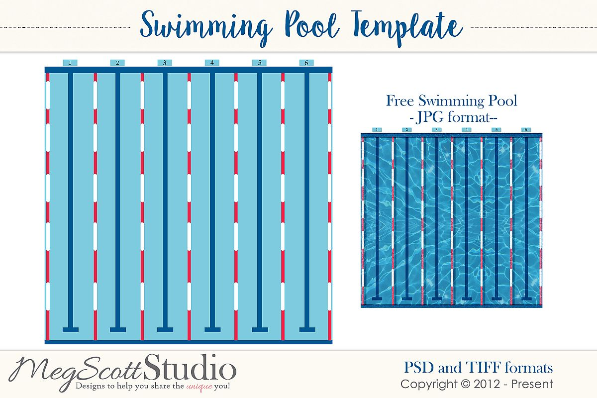 Swimming Pool Layered Template example image 1