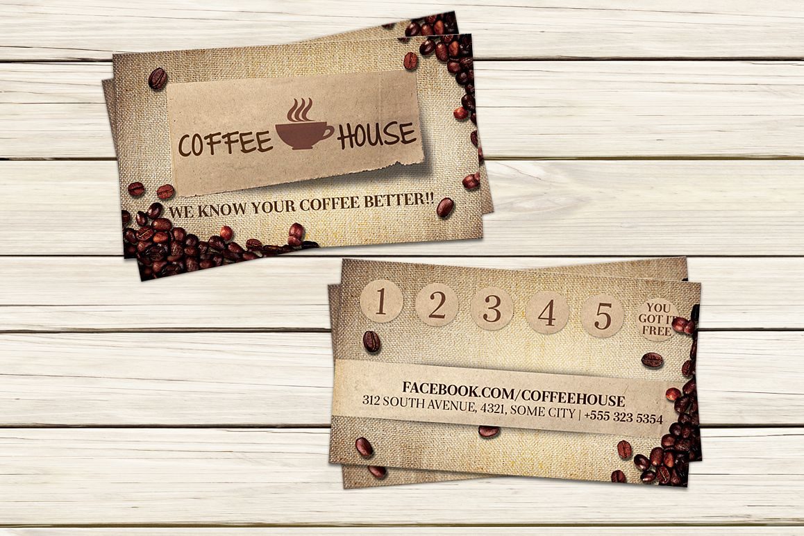 Coffee Shop Business Card example image 1