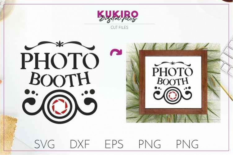 Photo Booth SVG - Party and Wedding Signs - Cut file DXF PNG example image 1