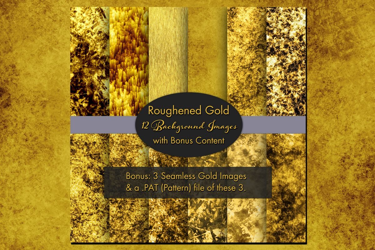 Roughened Gold - 12 Background Images with Bonus Content example image 1