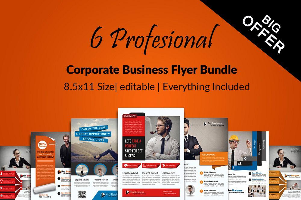 6 Multi Use Business Flyers Bundles example image 1