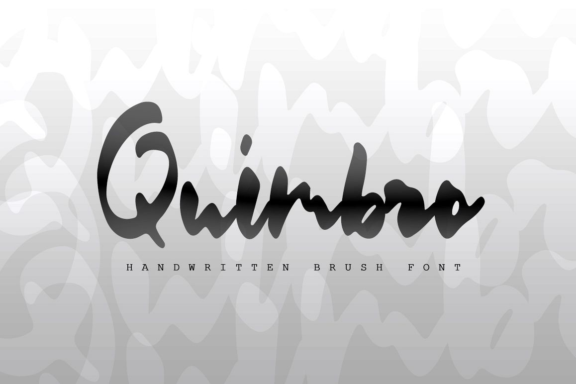 Quimbro | Handwritten brush font example image 1