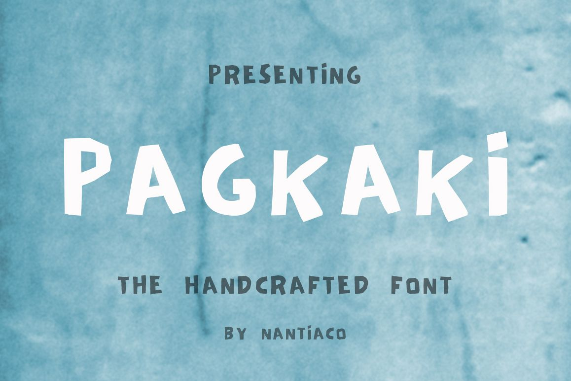 Pagkaki, Handcrafted Font, Greek Font, Display Font example image 1