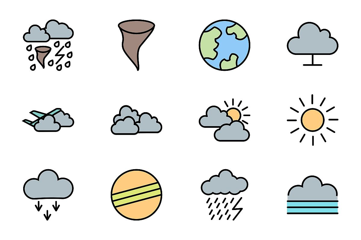 Set Of Weather And Season Icons example image 1