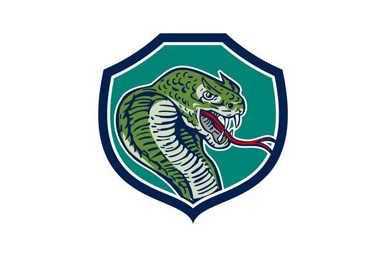Cobra Viper Snake Shield Retro example image 1