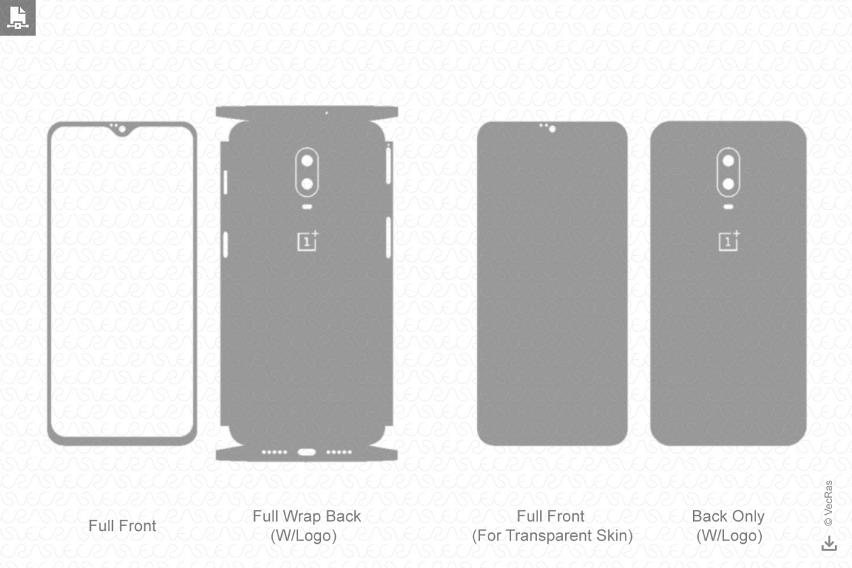 OnePlus 6T Vinyl Skin Vector Cut File Template 2018 example image 1