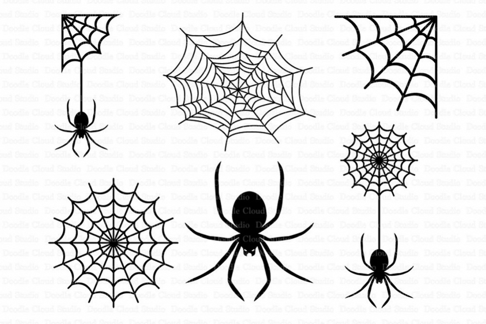 Spiders And Spider Web Svg Files For Silhouette Cameo And Cricut