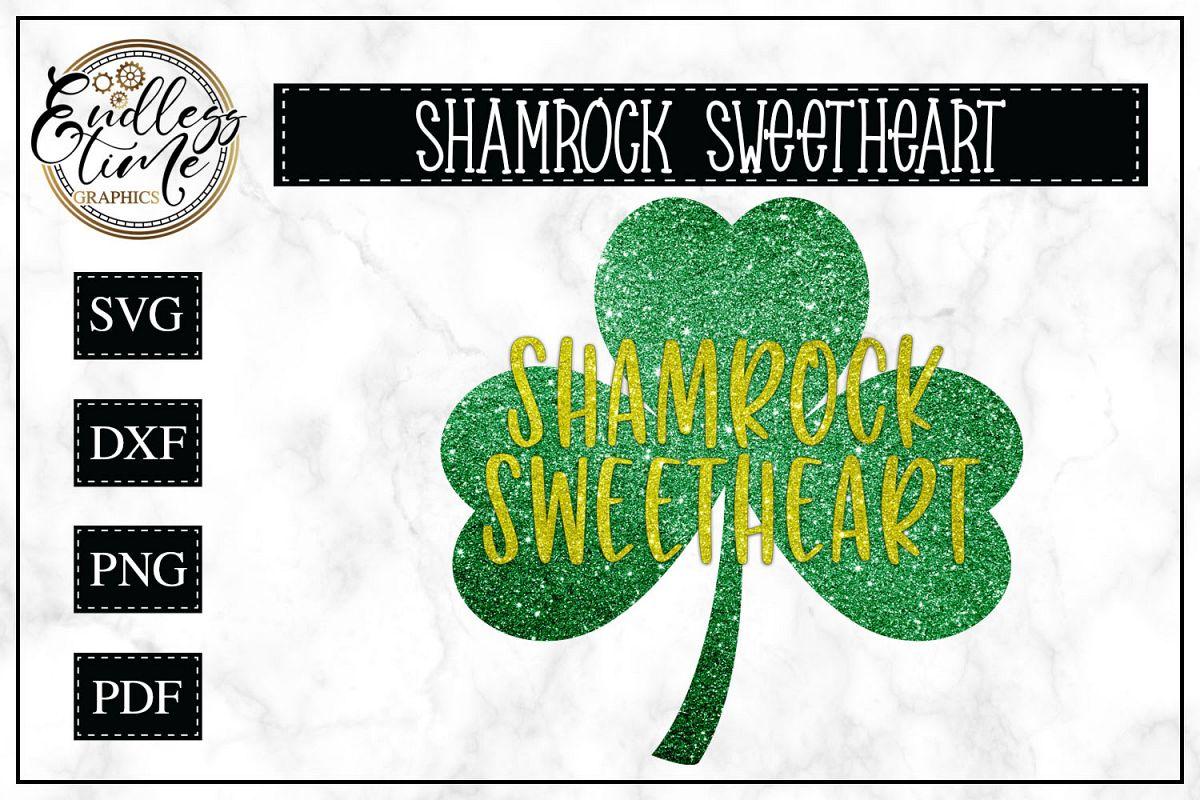 Shamrock Sweetheart SVG Cut File example image 1