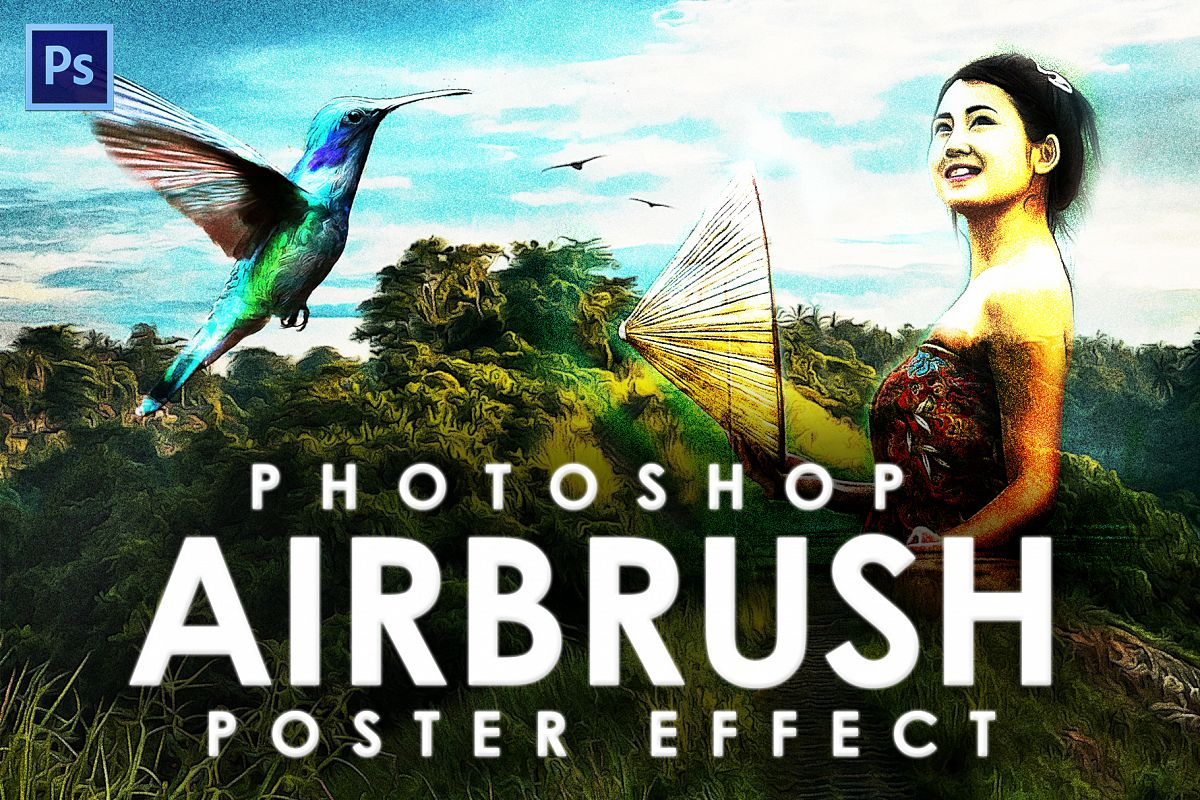 Airbrush Poster Photoshop Action example image 1