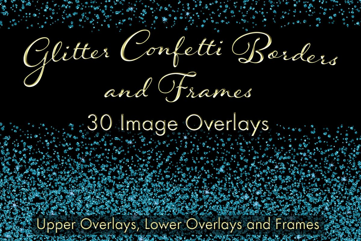 Glitter Confetti Borders and Frames example image 1