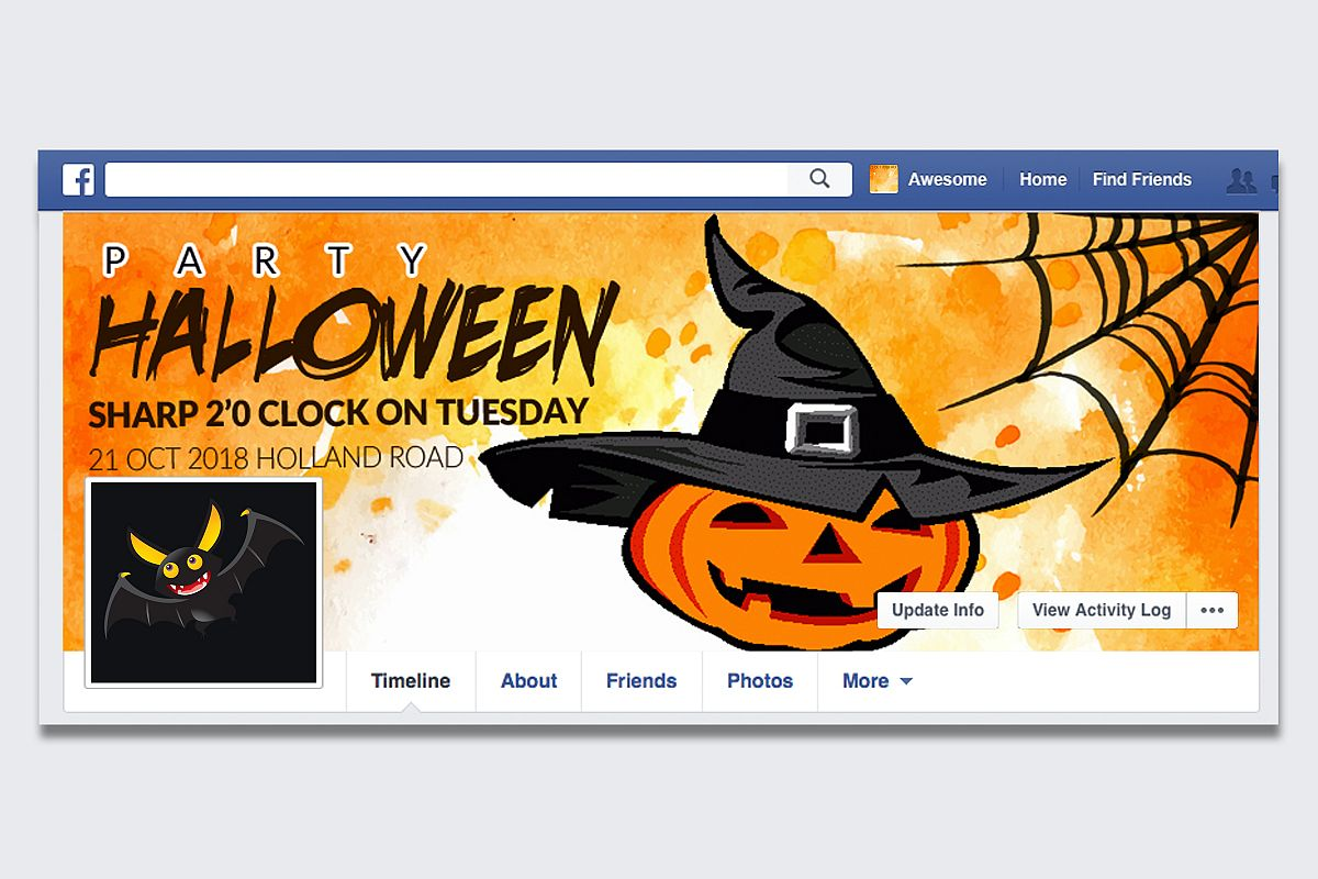 Halloween Party Facebook Timeline Cover example image 1
