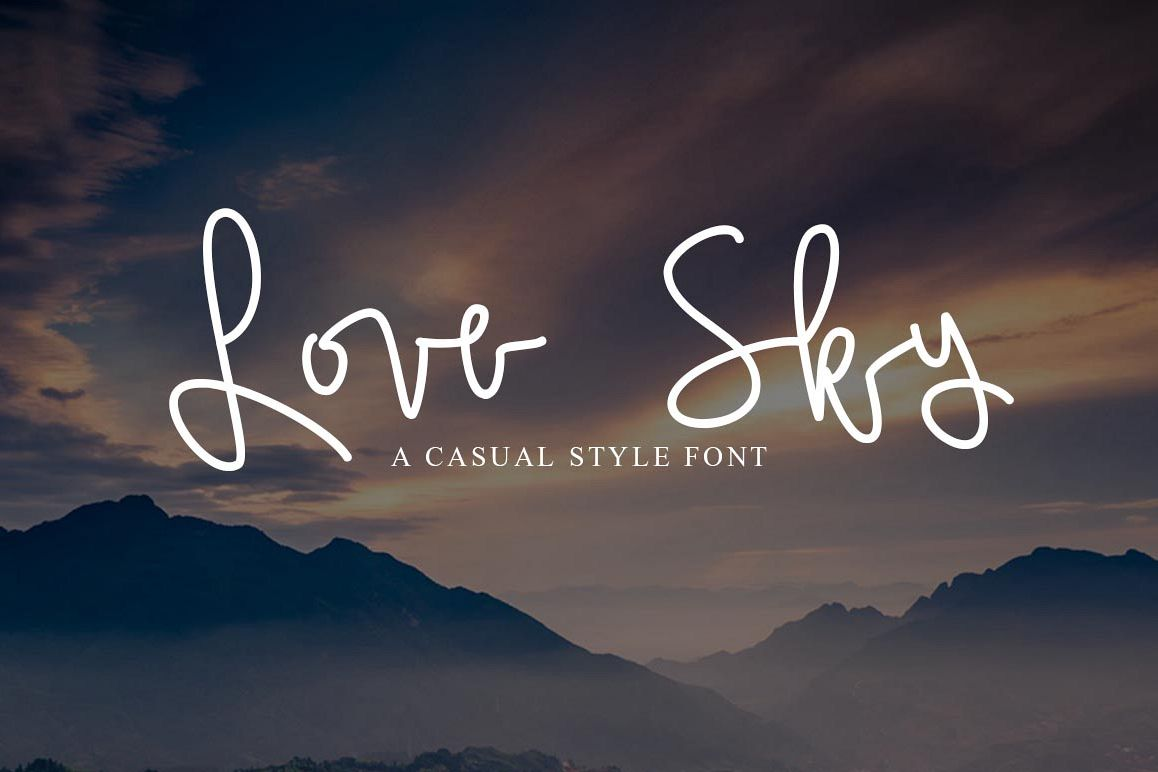 Love Sky font example image 1