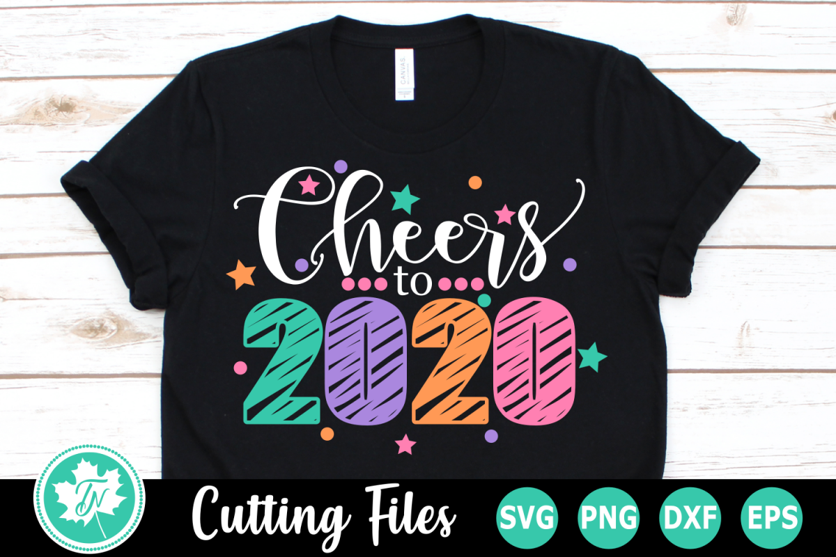 Cheers to 2020 - A New Year's SVG Cut File example image 1