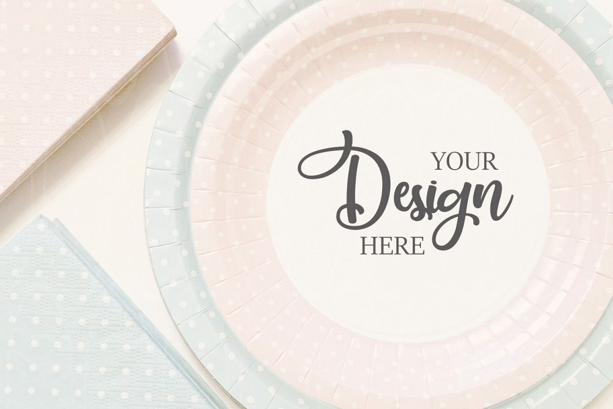 Disposable tableware mockup Styled Stock Photo Product example image 1