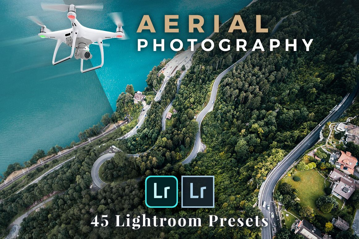 45 Lightroom Presets for Aerial Photography with Drones example image 1
