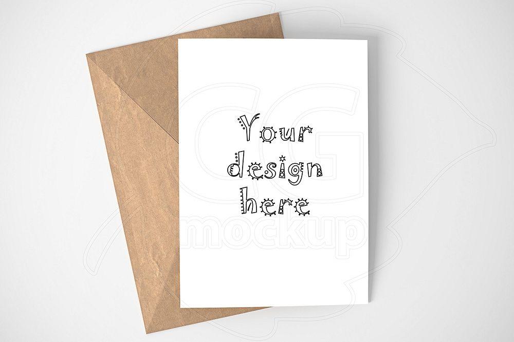 Minimal Card Invitation Mockup Psd