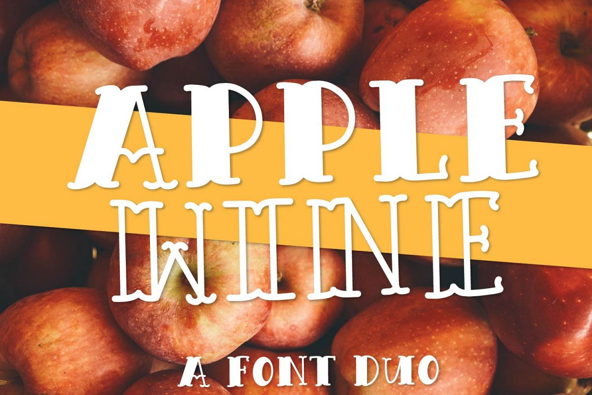 Apple Wine - A Hand Lettered Font Duo With Outline & Filled example image 1