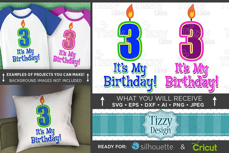 3rd Birthday Svg - Its My Birthday SVG Birthday Shirt - 1030 example image 1