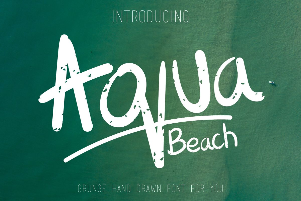 Aqua Beach - Hand Drawn Grunge Font example image 1