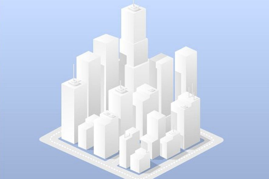 A business isometric downtown city example image 1